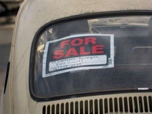 Car For Sale Sticker